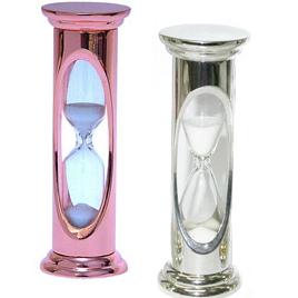 metalowy zegar piaskowy